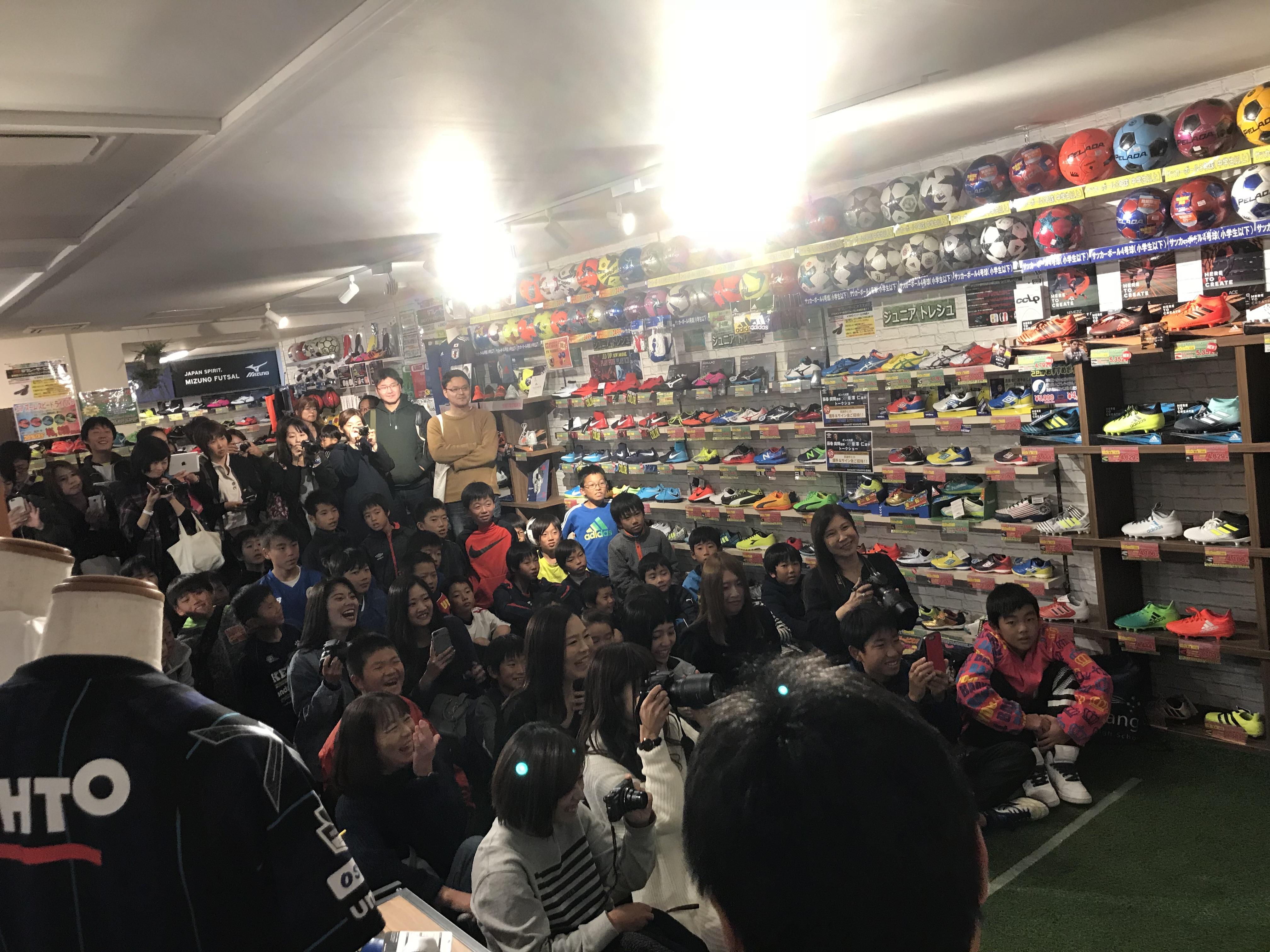 ガンバ大阪の藤春選手、泉澤選手のトークショー